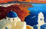 Santorini by 333artworks
