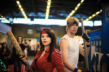 Street of rage duo cosplay 2 by BubbleHeadNurseXD