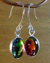 Rainbow Cabochon Earrings by N96D