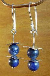 Blue Drop Earrings by N96D