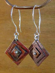Copper Square Earrings by N96D