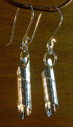 Textured Spiral Tube Earrings by N96D
