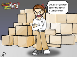 The Nerd and his Boxes by yamina-chan