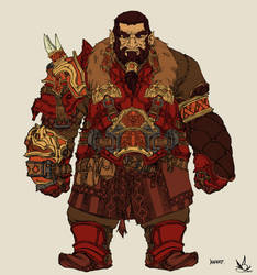 Imperial Dwarf - Red by skrittiblak