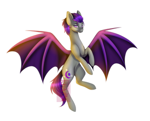 Bat Pony {Enchanted Night} By Cyanelwi by BENZ318