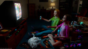 LiS BtS - Late night gamers by Mike-Kossi
