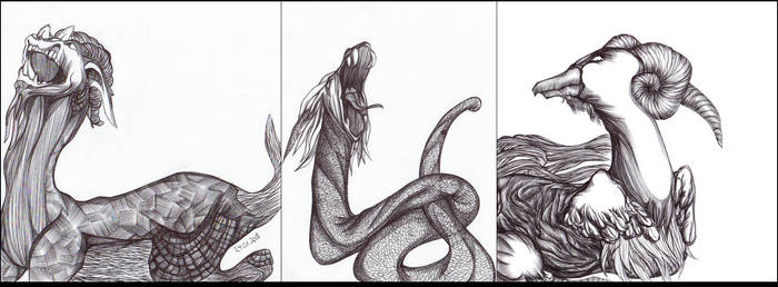 Mythical Creatures I by simoneines