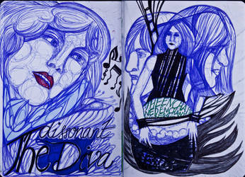 The Sketchbook Project 2013 - D and E by Nakilicious