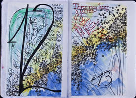 Sketchbook Project Limited Edition 2012 #12-13 by simoneines