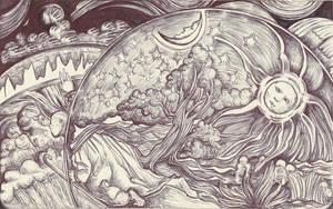 Moleskine XV - Camille Flammarion, L'Atmosphere by simoneines