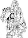 Gears of war Clayton Carmine by The-Silver-Spartan