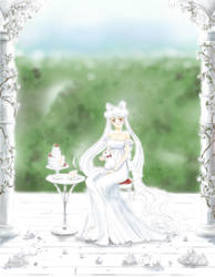 white rabbits in the gardens - P.L.Serenity by Myusse