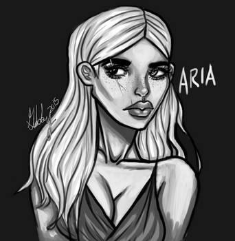 My OC Aria - Sketch by MzSkittlez32
