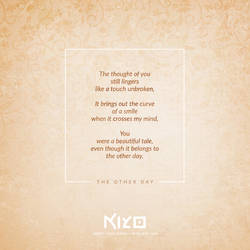 The Other Day by Kiyo-Poetry