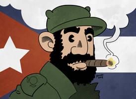 Fidel Castro Caricature by JesseAcosta