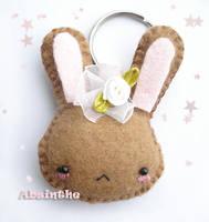 Felt Bunny Keychain by fee-absinthe