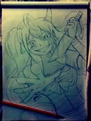 Happy Halloween_anime sketch_oc by AioKhyslerSirraya