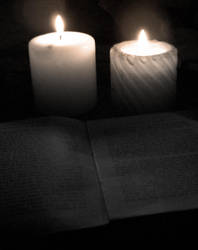 Reading by candle light. by theend