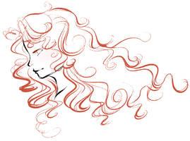 Doodle: Merida by StarryTumble
