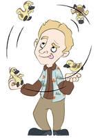 Wash Juggling Goslings by ersheld