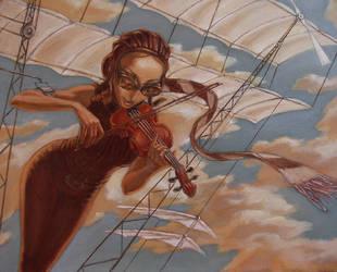 Sky Violin by genom5