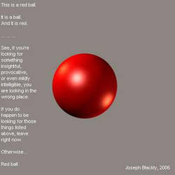 Joe's Red Ball by JosephBlackly