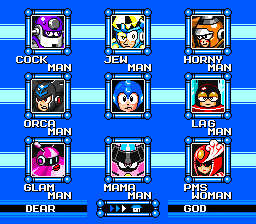 Megaman 69 stage select by SPACE-ROBOTS