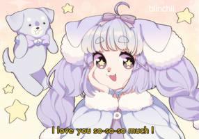 Puppy love by Blinchii
