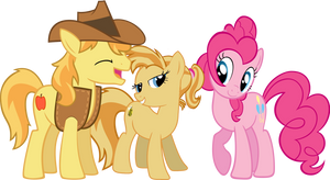 The Family of Braeburn and Pinkie by dlazerous