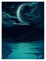 Moon light by moti-cohen