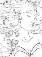 Sleeping Beauty Lineart by Violetris