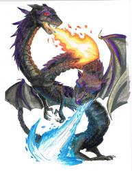 Dragon Commission - Watercolor by MartinDunn