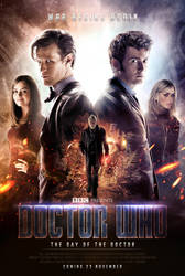 Doctor Who: The Day of the Doctor Poster by SkinnyGlasses