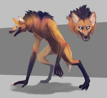 Maned Werewolf by owlapin
