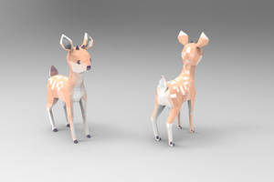 Lowpoly Deer by owlapin