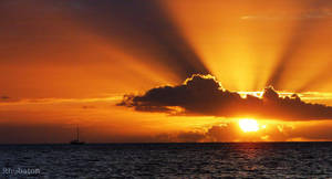 Explosive Sunset by Rhubaton