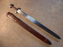 Hollow Ground Viking Sword by LongshipArmoury
