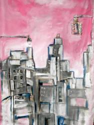 pink urban sketch 4 by Messydog