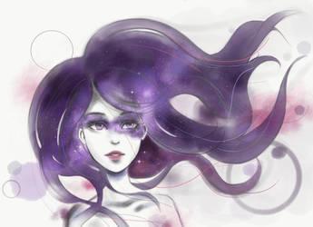Adobe Photoshop Sketch app - Galaxy Girl by KatManga03