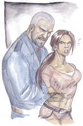 TR Fans art Lara and Gunderson by CarolaFunder