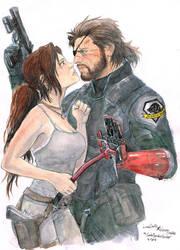 Lara Croft x Venom Snake by CarolaFunder