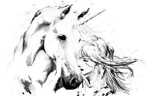 Old Friends - Ciri and Ihuarraquax by Shinobi2u
