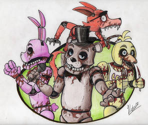 That FNaF drawing that everybody keeps favoriting by VictorZ1