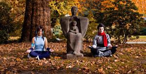 Legend of Korra - Meditation by MiraiSadame