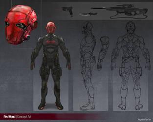 Red Hood Concept Art by Raymondttan