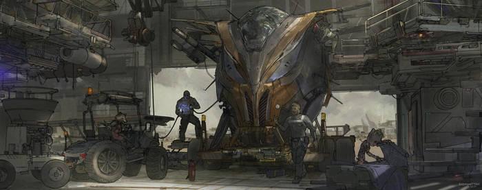 Guardians Of The Galaxy by Raymondttan