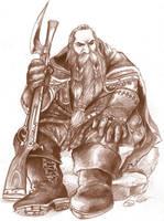 dwarf hunter sketch by borokokok