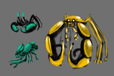 Crab Creatures by SnowboardingTaco