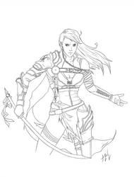 Half plate warrior by Jaripeich