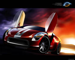VW Beetle Sport Concept by husseindesign